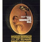 The Serpent´s Egg (1977) - David Carradine DVD