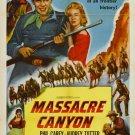 Massacre Canyon (1954) - Philip Carey DVD
