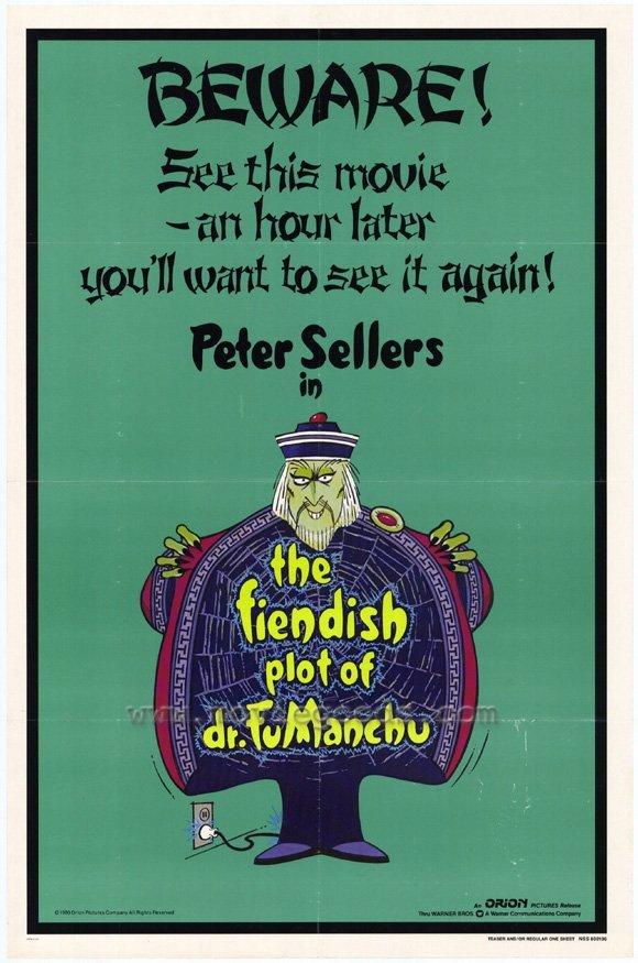 The Fiendish Plot Of Fu Man Chu (1980) - Peter Sellers DVD