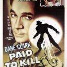 Paid To Kill AKA Five Days (1954) - Dane Clark  DVD