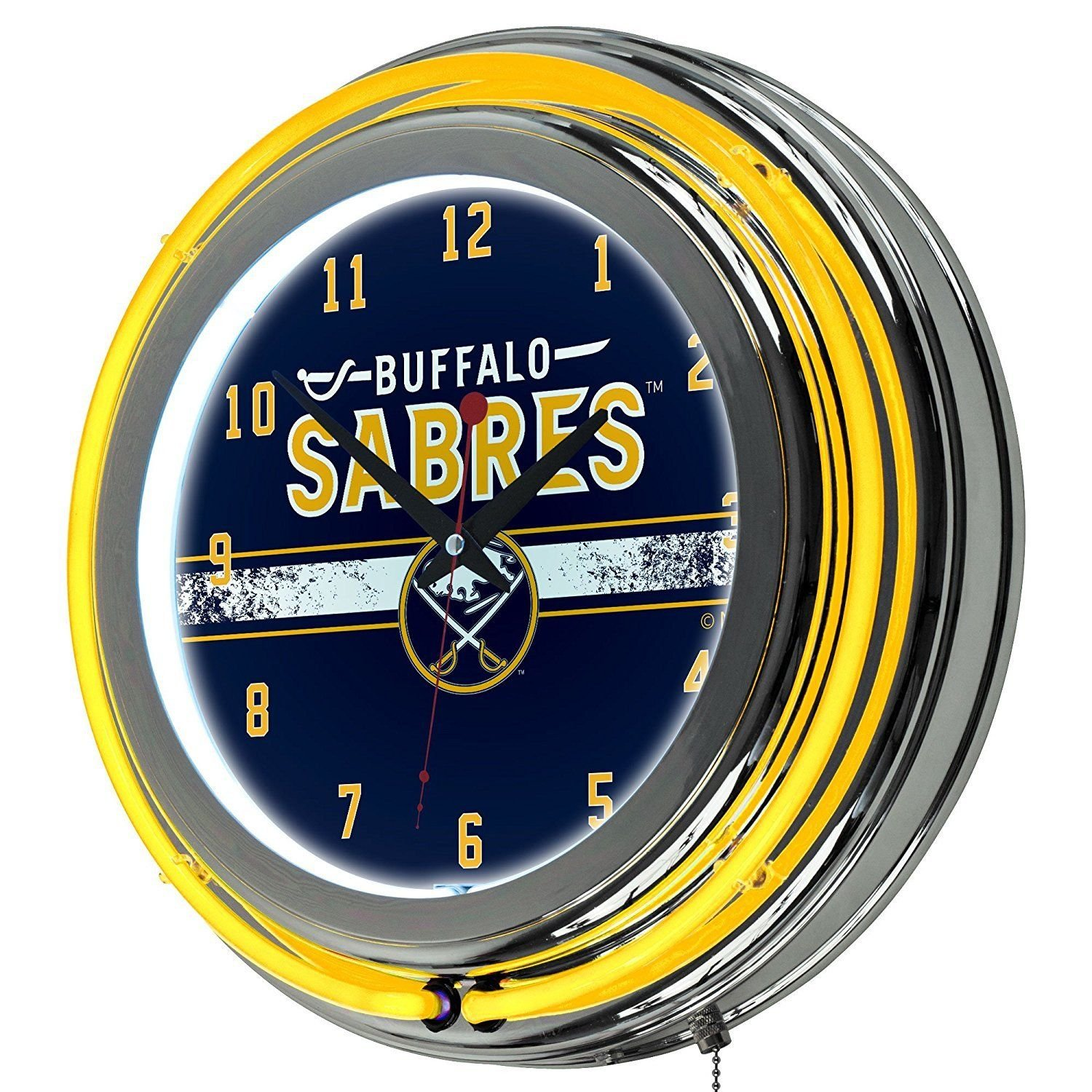 NHL-Buffalo-Sabres-Chrome-Double-Rung-Neon-Clock