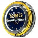NHL-Buffalo-Sabres-Chrome-Double-Rung-Neon-Clock