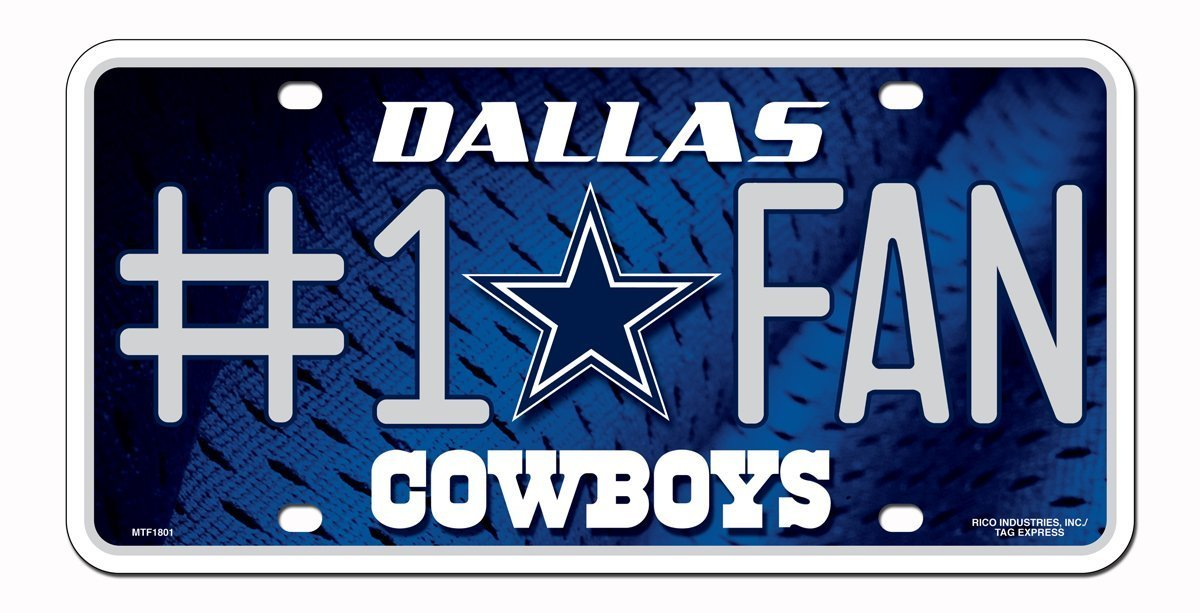 Dallas Cowboys NFL Number One Fan License Plate