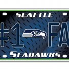 Seattle Seahawks NFL Number One Fan License Plate