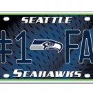 Seattle Seahawks NFL Number One Fan License Plate