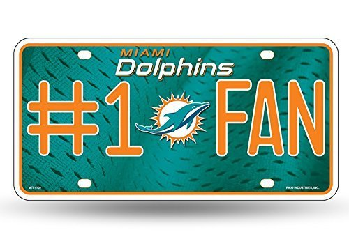 Miami Dolphins NFL Number One Fan License Plate
