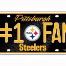 Pittsburgh Steelers NFL Number One Fan License Plate