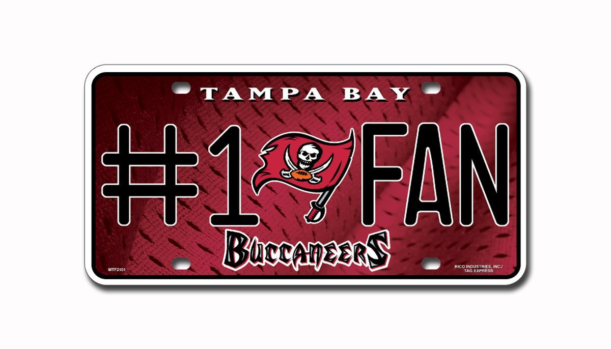 Tampa Bay Buccaneers NFL Number One Fan License Plate