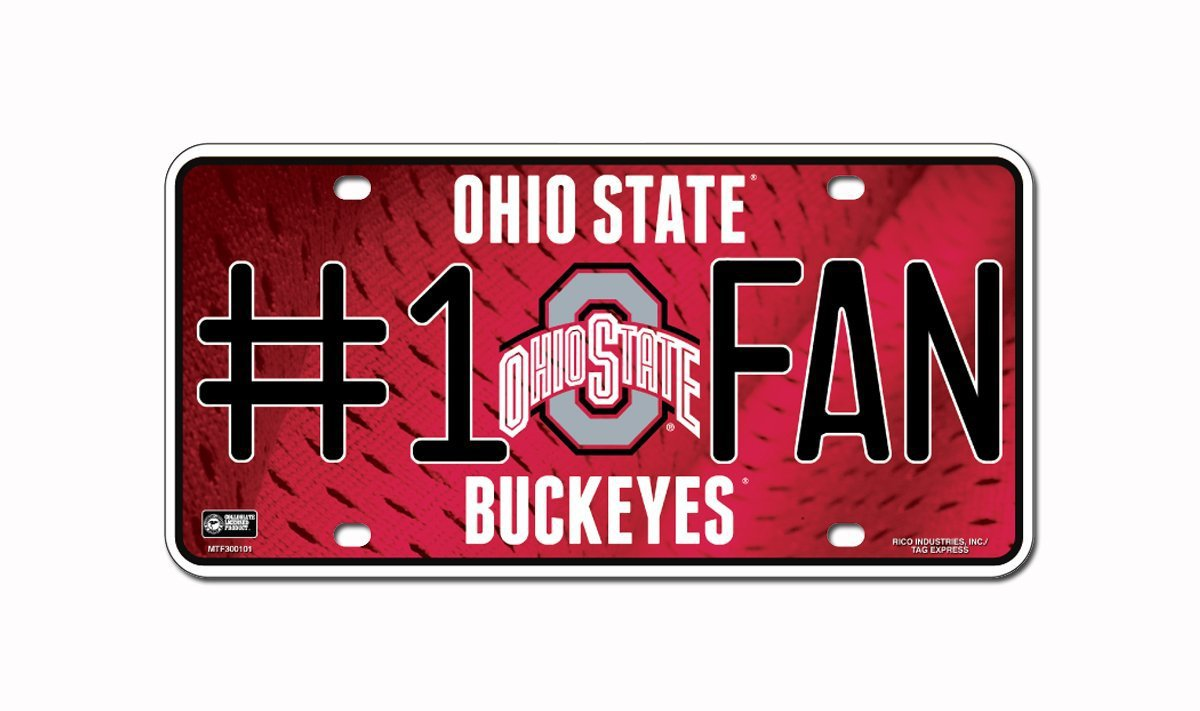 Ohio State Buckeyes NCAA Number One Fan License Plate