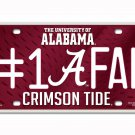 Alabama Crimson Tide NCAA Number One Fan License Plate