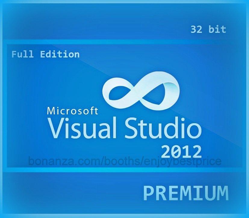 Visual Studio 2012 Premium 32bit Full Edition Software Download Link Licence Key