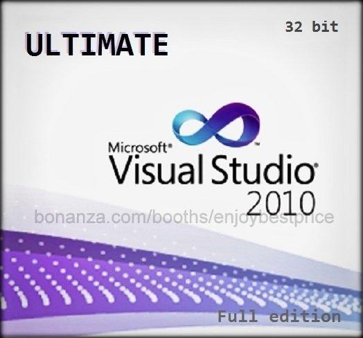 Visual Studio 2010 Ultimate 32 bit Full Edition Software Download Link & Key