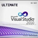 Visual Studio 2010 Ultimate 32 bit Full Edition Software Download Link & Key