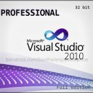 Visual Studio 2010 Professional 32 bit Full Edition Software Download Link + KEY