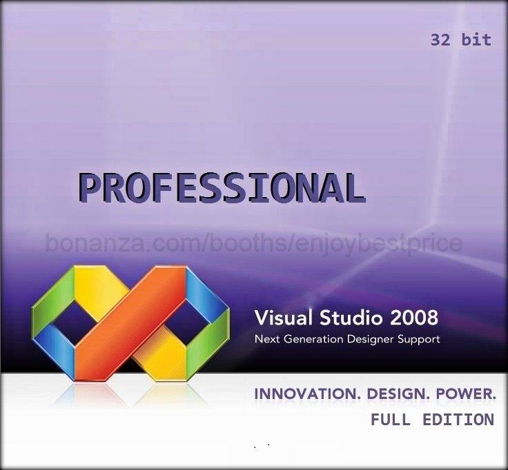 Visual Studio 2008 Professional 32 bit Full Edition Software Download Link + KEY