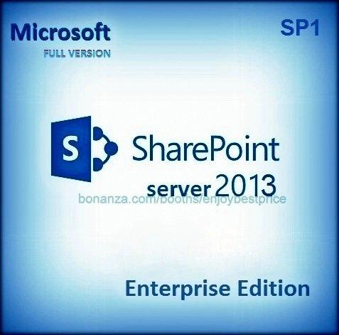 Sharepoint Server Enterprise Edition 2013 SP1 Lifetime Licence Key Software Pack