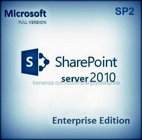 Sharepoint Server Enterprise Edition 2010 SP2 Lifetime Licence Key Software Pack