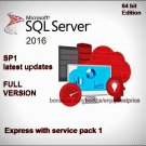 Microsoft SQL Server 2016 Express SP1 64bit Lifetime FULL Edition Download Link