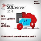Microsoft SQL Server 2016 Enterprise Core SP1 64bit Full Edition Key & Software