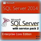 SQL Server 2014 Enterprise Core SP2 Full Edition 32 64 bit Licence Key Software