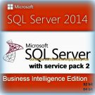 SQL Server 2014 Business Intelligence SP2 Full Edition 32 64 bit Key & Software
