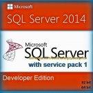 SQL Server 2014 Developer SP1 Edition 32 64 bit Lifetime Edition Software Pack
