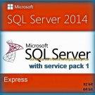 SQL Server 2014 Express SP1 Edition 32 64bit Lifetime Full Edition Software Pack