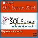 SQL Server 2014 Express with Tools SP1 32 64 bit Lifetime Edition Software Pack