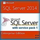 SQL Server 2014 Enterprise SP1 Edition 32 64bit Lifetime Key SERVER CAL Software