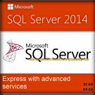 SQL Server 2014 Express with Advanced Services 32 64 bit Lifetime Full Edition
