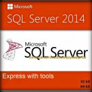 SQL Server 2014 Express with Tools 32 64 bit Lifetime Full Edition Software Pack