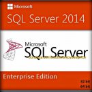 SQL Server 2014 Enterprise Edition 32 64 bit Lifetime Key SERVER CAL + Software