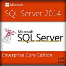 SQL Server 2014 Enterprise Core Edition 32 64 bit Lifetime Licence Key Software