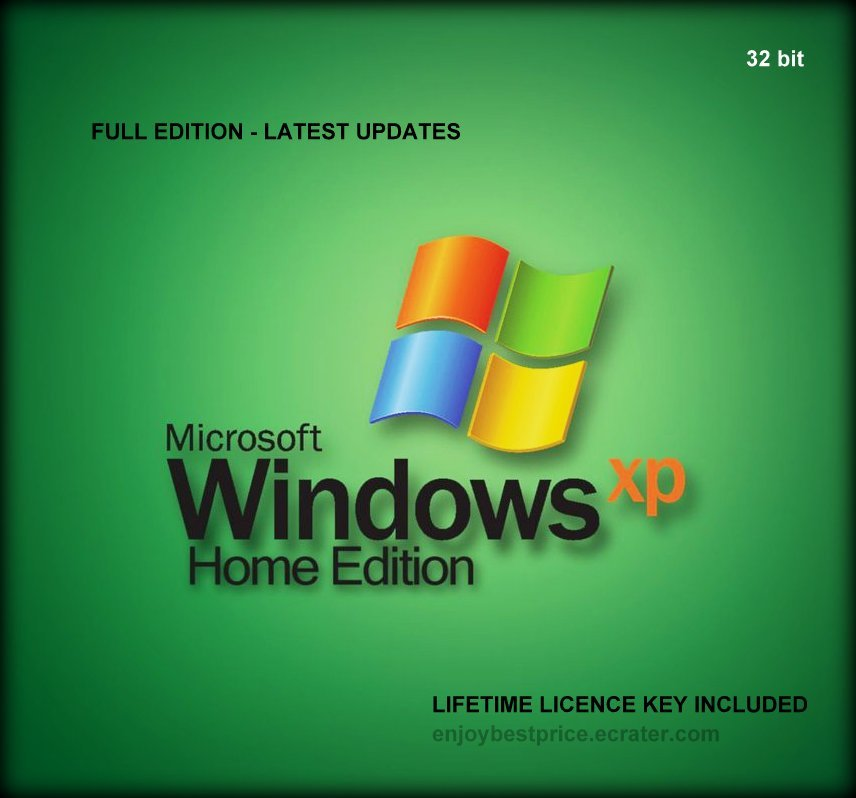 Microsoft Windows XP Home Edition SP3 32 bit Lifetime FULL NEW KEY + LINK
