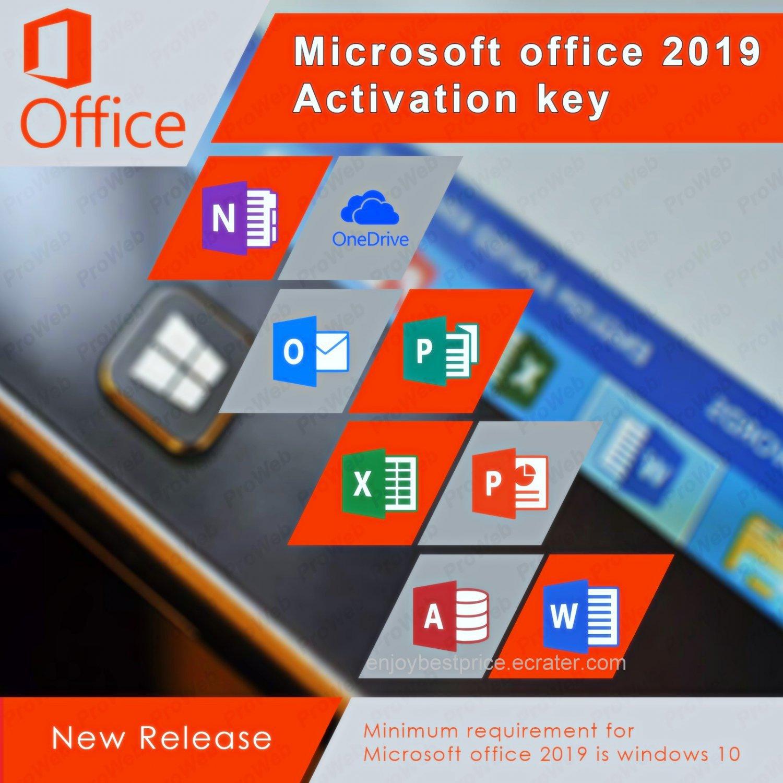 Microsoft Office 2019 Pro Plus 32 64 bit Lifetime KEY Soft