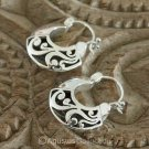 Creole EARRINGS Genuine 925 Sterling SILVER 6.04 g ~ Handmade