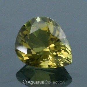 7.54 cts Natural Greenish Yellow TOURMALINE Pear Drop Cut Clean Nigeria Africa