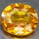 0.55 cts Orange SAPPHIRE Oval Facet-cut Natural Gemstone Sri Lanka Ceylon