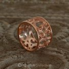 RING Genuine 18K Rose Gold over Sterling SILVER 5.60g US size 7 ~ Handmade