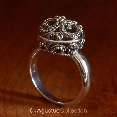 RING Genuine Solid Sterling SILVER Ring 4.85 g US size 9 ~ Handmade in Bali