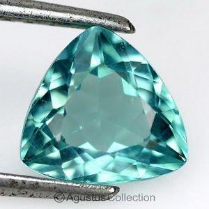 1.73 cts Paraiba Blue APATITE Trillion Facet-cut Natural Gemstone Madagascar