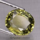 0.55 cts Light Green SAPPHIRE Oval Facet-cut Natural Gemstone Sri Lanka Ceylon