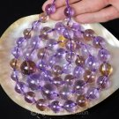 HUGE AMETHYST & AMETRINE Long Strand 32 inch Graduated Round Gem BEADS 218 g