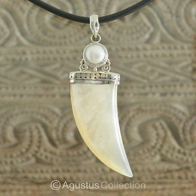 Pendant Genuine Mother-of-Pearl & Sterling SILVER 13.70 g ~ Handmade in Bali