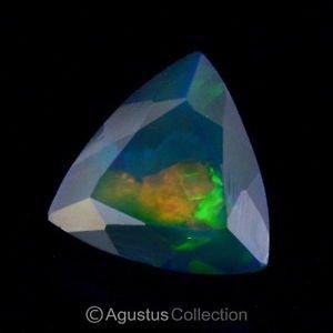 2.54 cts Black WELO OPAL Multicolor Ethiopia Trillion Facet-cut Natural Gemstone