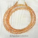 Padparadscha SAPPHIRE 16.3 inch Strand Faceted Rondelle Gemstone Beads 46 ct