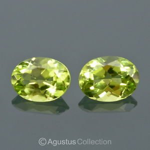2.58 cts Green PERIDOT Pair Oval Facet-cut VVS Clean Natural Gemstones Pakistan