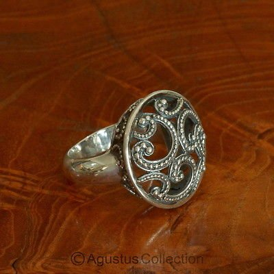 RING Genuine Solid Sterling SILVER 9.25 g US size 7.5 ~ Handmade in Bali