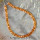 MANDARIN Orange Spessartite GARNET 6.8 inch Strand Facet Rondelle BEADS 35.9 ct