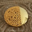Brooch Genuine 24K Gold Vermeil over Sterling SILVER 30.75 g ~ Handmade